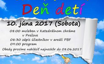 <s> 10.6.2017 (sobota) Deň detí </s>