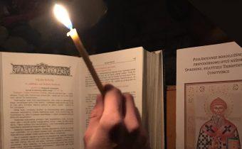 24. decembra sa uskutočnilo vsenočné bdenie v česť sv. Spiridona Trimifuntského v Medveďom