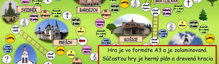 Na predaj – Stolová hra Pravoslávne chrámy na Slovensku