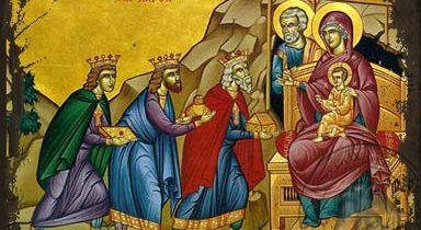 PÝTAJTE SA … Prečo na ikone Roždestva Isusa Christa traja mudrci nemajú svätožiaru?