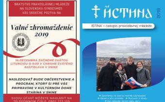 Vyšlo nové číslo časopisu Istina – december 2019