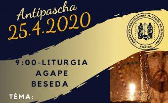 25. apríla 2020 (sobota) – Antipascha v Košiciach
